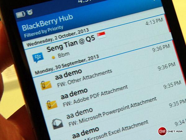 Đánh giá nhanh BlackBerry Z30