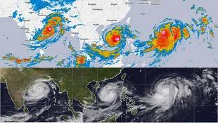 Ảnh vệ tinh những siêu bão sắp đổ bộ Việt Nam