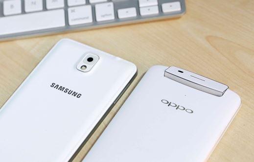 OPPO N1 đọ dáng cùng Samsung Galaxy Note 3