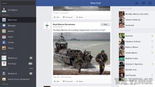 Facebook chính thức trình làng ứng dụng dành cho Windows 8.1