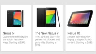 Nexus 5 lặng lẽ xuất hiện trên Google Play, giá 349 USD