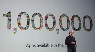 Apple có hơn 1 triệu ứng dụng trên App Store, 60 tỷ lượt tải