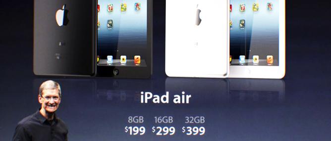 Apple ra mắt iPad Air: Màn hình Retina 9.7 inch, vi xử lý A7