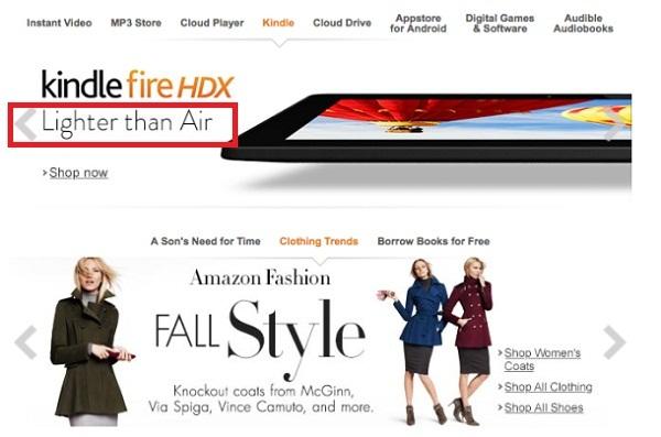 """Amazon """"đá đểu"""" iPad Air ngay trên trang chủ"""