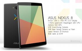 Rò rỉ thông tin Google Nexus 8: Màn hình 8 inch, chip lõi tứ, giá khoảng 4 triệu đồng
