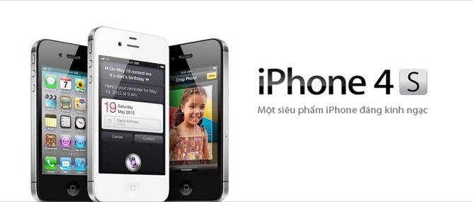 VinaPhone bán iPhone 4S rẻ hơn Viettel 800.000 đồng