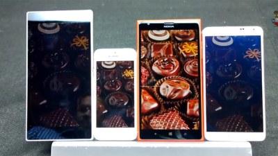 Màn hình Lumia 1520 làm lu mờ iPhone 5s, Xperia Z Ultra và Galaxy Note 3