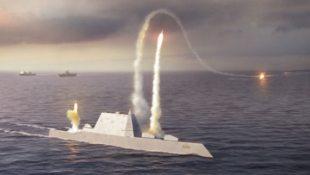 Cận cảnh tàu khu trục lớp Zumwalt với thiết kế vát độc đáo