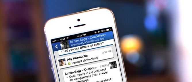 Trải nghiệm BlackBerry Messenger trên Android và iOS