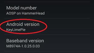 Xuất hiện Nexus 5 chạy Key Lime Pie