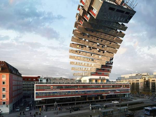 """Hình ảnh thú vị về tòa nhà """"biến hình"""" với 88 tư thế khác nhau"""