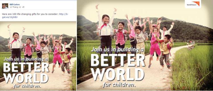 Bức hình trẻ em Việt rạng ngời trên Facebook của Bill Gates có từ đâu?