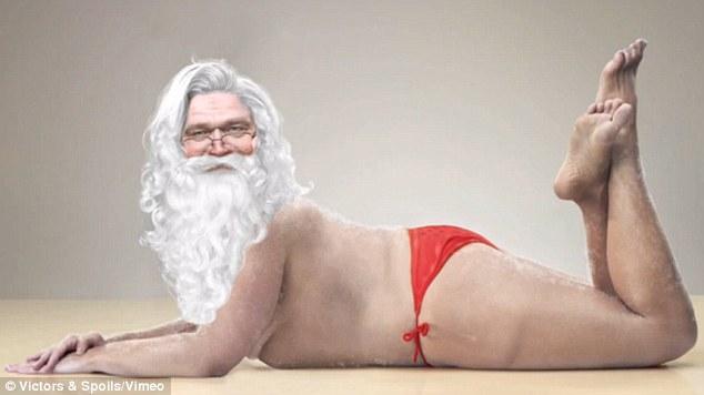 """Người mẫu """"hot vì Photoshop"""" lại biến thành... ông già Noel"""
