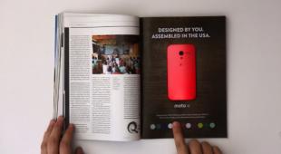 """Motorola """"show"""" thiết kế Moto X ngay trên... cuốn tạp chí"""
