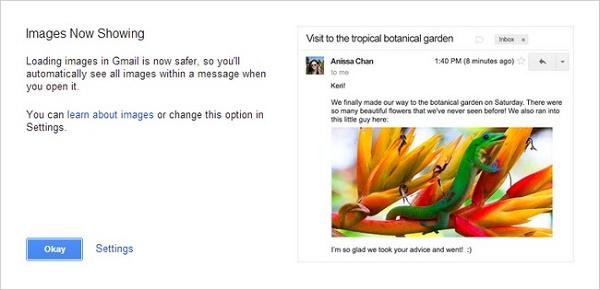 Tắt tính năng tự động tải ảnh trong Gmail