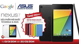 ASUS tặng quà cho khách mua Nexus 7 và Transformer Book T100