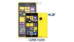 Lộ diện Lumia 1520V: Màn hình 4.3 inch, camera PureView 14MP