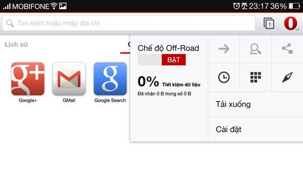 Làm sao tiết kiệm dung lượng khi duyệt web trên di động