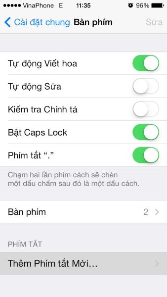 Cách tạo phím tắt cho iOS iPhone iPad
