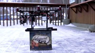 Giao bia bằng máy bay không người lái