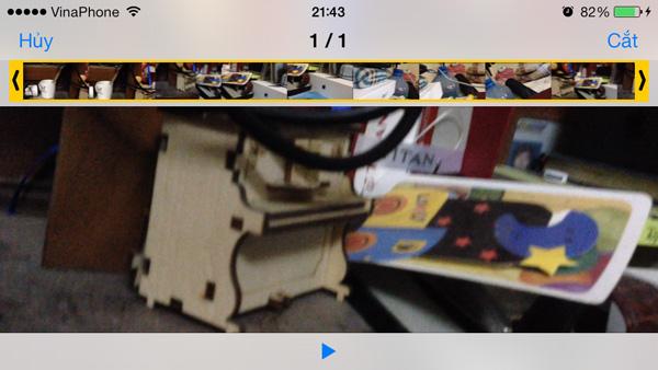 Cách cắt video ngay trên iPhone và iPad