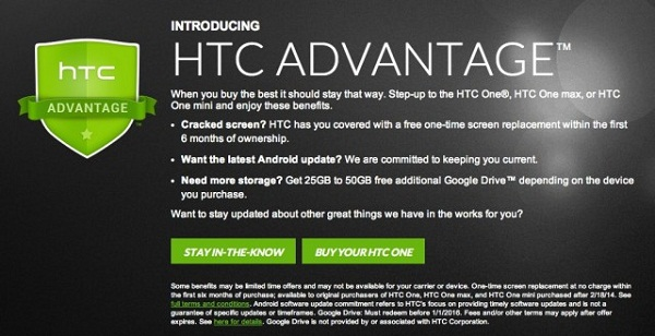 HTC thay màn hình miễn phí cho One, One Mini và One Max