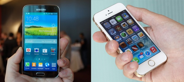 So sánh sơ bộ Galaxy S5 và iPhone 5s