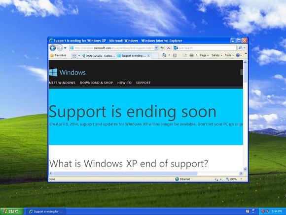 """Windows XP hiển thị thông báo """"hết hạn hỗ trợ"""" không khác gì virus"""