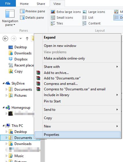 Cách chuyển thư viện Documents, Pictures... của Windows lên Dropbox