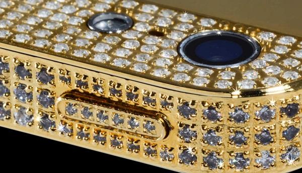 iPhone mạ vàng kim cương sang đắt 1 triệu
